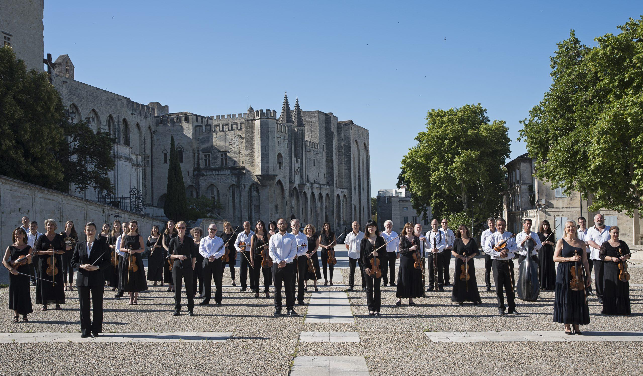 Photo de groupe, 09 juillet 2020 Orchestre Régional Avignon-Provence